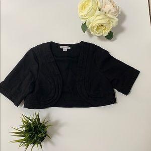 Maternity Short Sleeve Shrug Sweater L